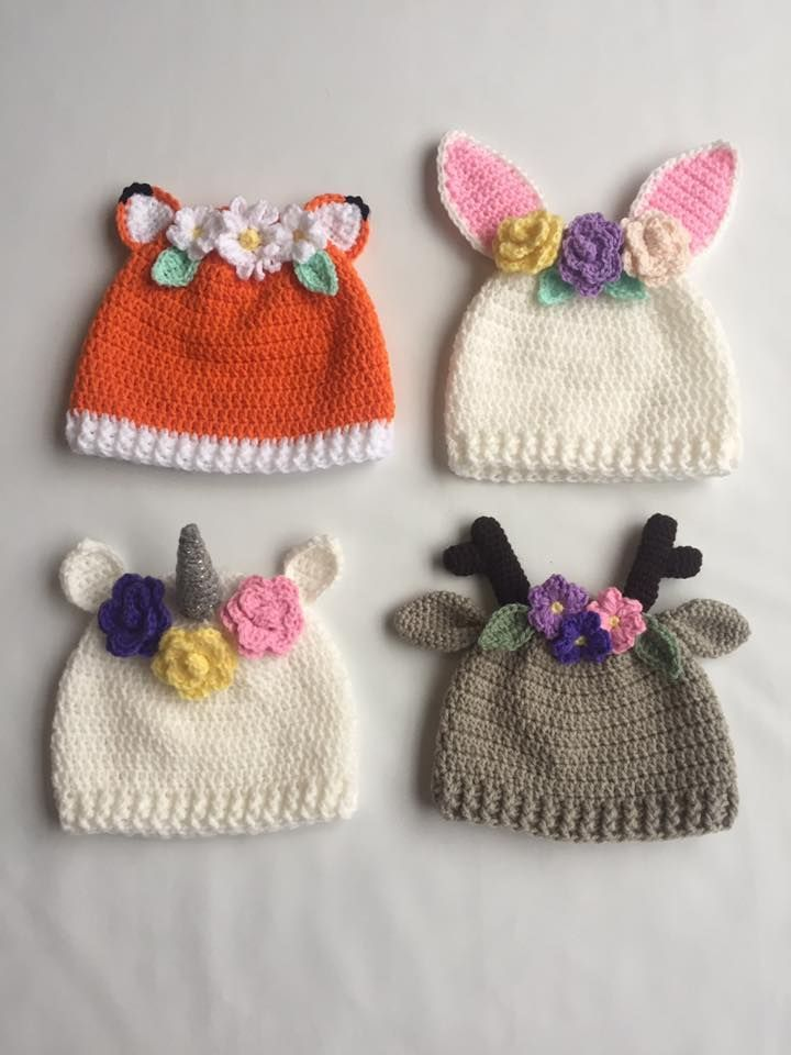 Crochet hats with flowers #Crochet #flowers #hats #DIY   knitted hat ...