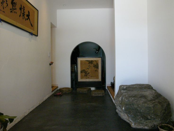 Home design [Entrance hall] TEPEE HEART #black mortar #Japanese folding  screen 「Byoubu」#屏風 #和額