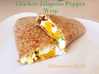 Ripped Recipes - Chicken Jalapeno Popper Wrap