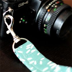 Make your own DIY wristlet for your camera. -Love it considering I could use one for my film camera and I'll be upgrading the body of my digital this year!