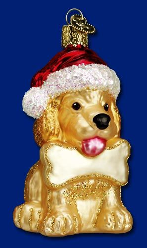 Jolly Pup, Old World Christmas Glass Ornaments, www.oldworldchristmas.com