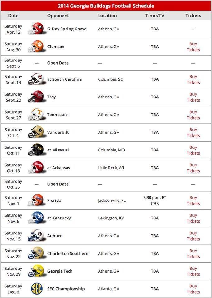 ga bulldog football schedule 2017 best 25 uga schedule ideas only on pinterest uga 7202