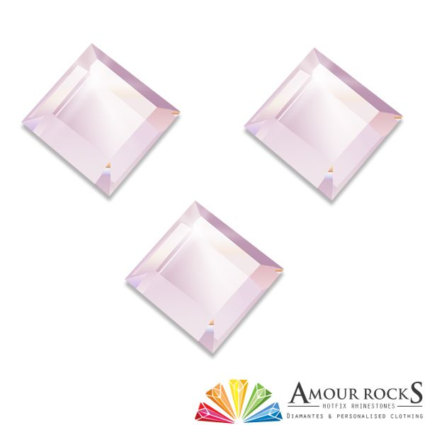 Princess Light Rose Hotfix Rhinestone Shapes - Amour Rocks UK