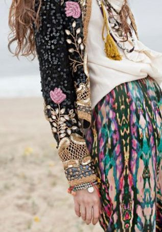 sleeve, pattern, layer: Boho Chic, Color, Mixed Patterns, Hippie Style, Texture, Mixed Prints, Jackets, Boho Style, Patterns Mixed
