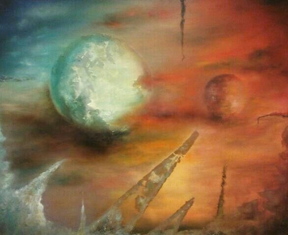 Oil and sand over canvas. Paintig by Jesús Ojeda.(120x100). 2010