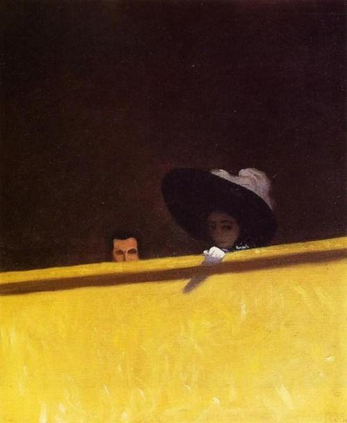 Félix Vallotton - La loge de théatre, le monsieur et la dame (1909)