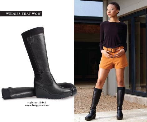 Froggie Shoes Wedge Boots Winter Styles 2016 Womens Black