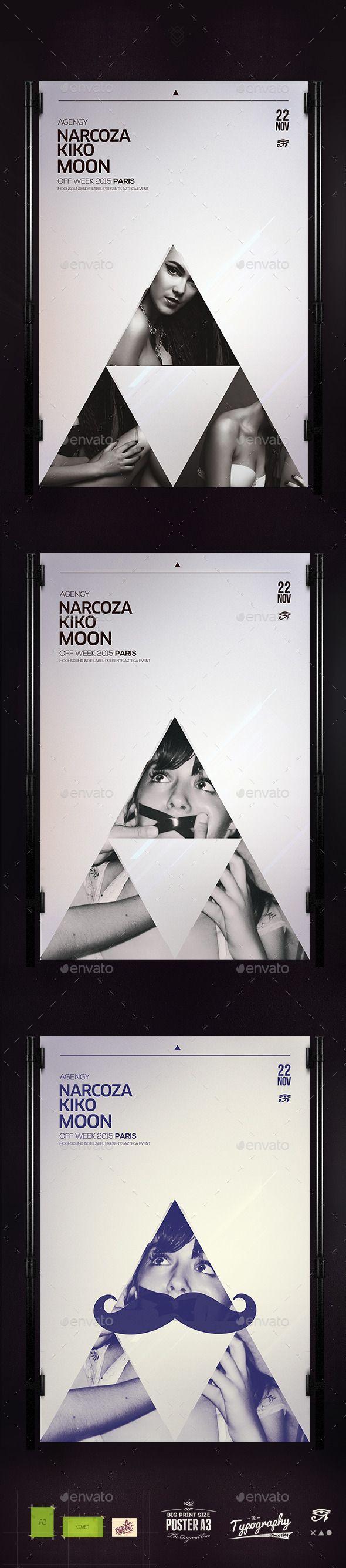 Minimal Hipster Poster 逆三角形あるある