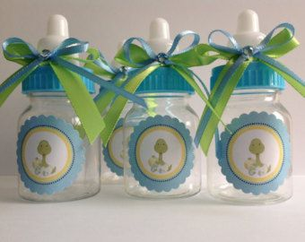 12 Snoopy baby bottles baby shower favors by Marshmallowfavors