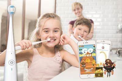 Une brosse à dents connectée à des Lapins Crétins... - Kolibree et Ubisoft s'associent et bousculent les codes. Les capteurs de mouvements de la brosse serviront de manette pour jouer aux Lapins Crétins. Avec le jeu Les Lapins Crétins aux Jeux ...