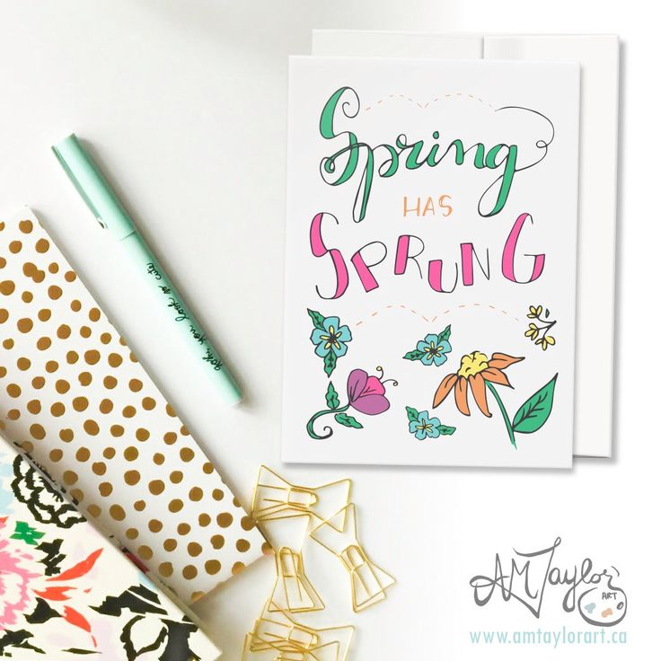 A personal favorite from my Etsy shop https://www.etsy.com/ca/listing/498049582/spring-card-floral-card-hand-lettered