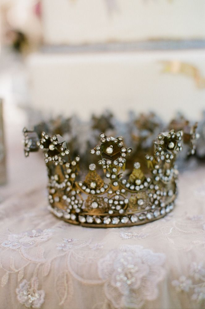 #Crowns | Whimsical Wedding Inspiration | See the wedding on SMP: http://www.StyleMePretty.com/2013/04/03/ojai-wedding-from-xoxo-bride-michael-anna-costa-photography/  Michael + Anna Costa Photography