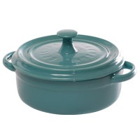 "Lovely turquoise 5"" baker from Epicure Selections."