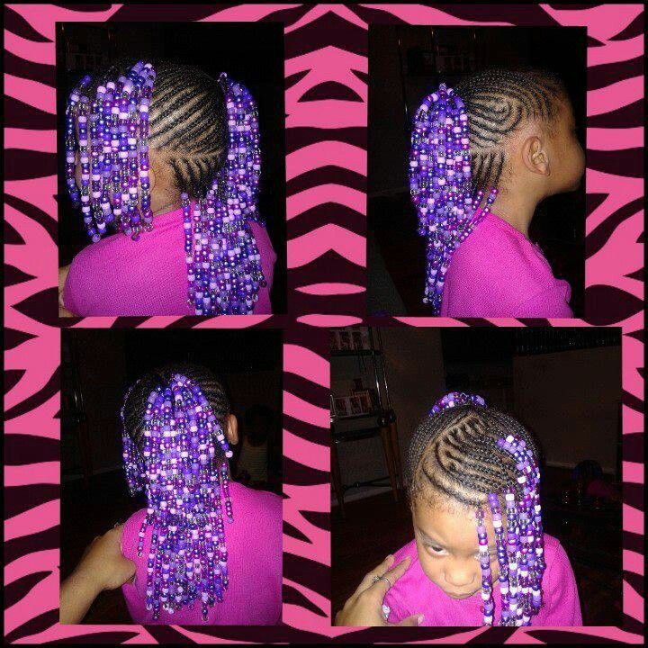 Beaded Braid Style Natural Kids Hair Style Ideas For