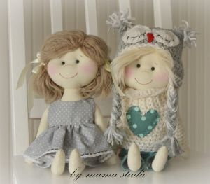 polandhandmade.pl #bymamastudio #doll #softdoll #pippi Laleczki - bymama studio