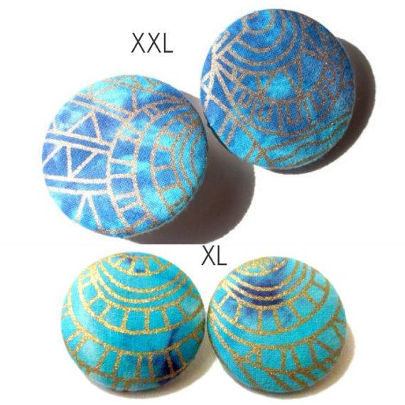 CLEARANCE 10 OFF Turquoise & Gold Tie Dye Batik by TheLikeButton12, $9.00