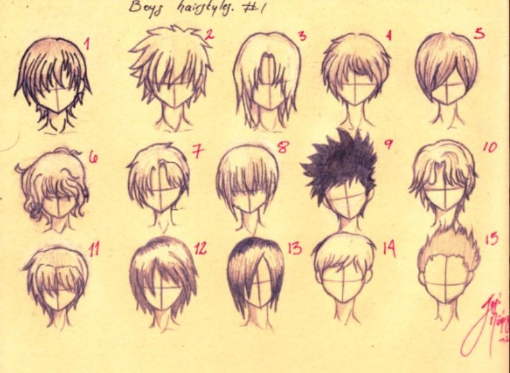 How To Draw Anime Boys Hair