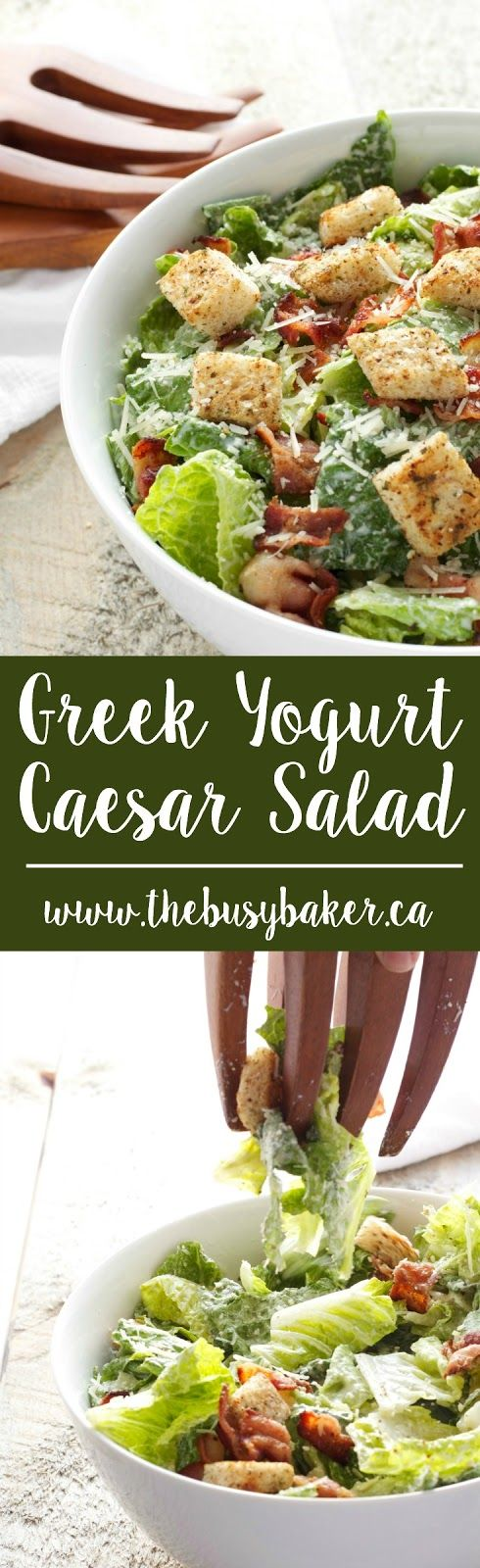 When I discovered the idea of making Caesar salad dressing with Greek yogurt I knew it would be a game-changer. The restaurant-quality Cae...