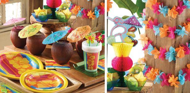 """Addobbi e decorazioni per feste a tema """"Tema Aloha"""" su VegaooParty"""