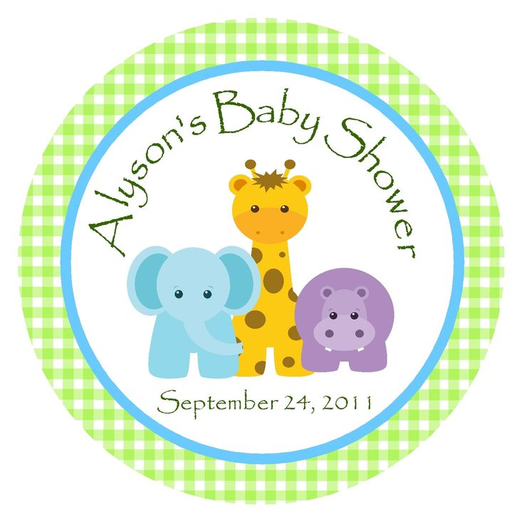 jungle animals baby shower ideas | Jungle Animals Favor Tags or Stickers/ Zoo Animals/Personalized Baby ...