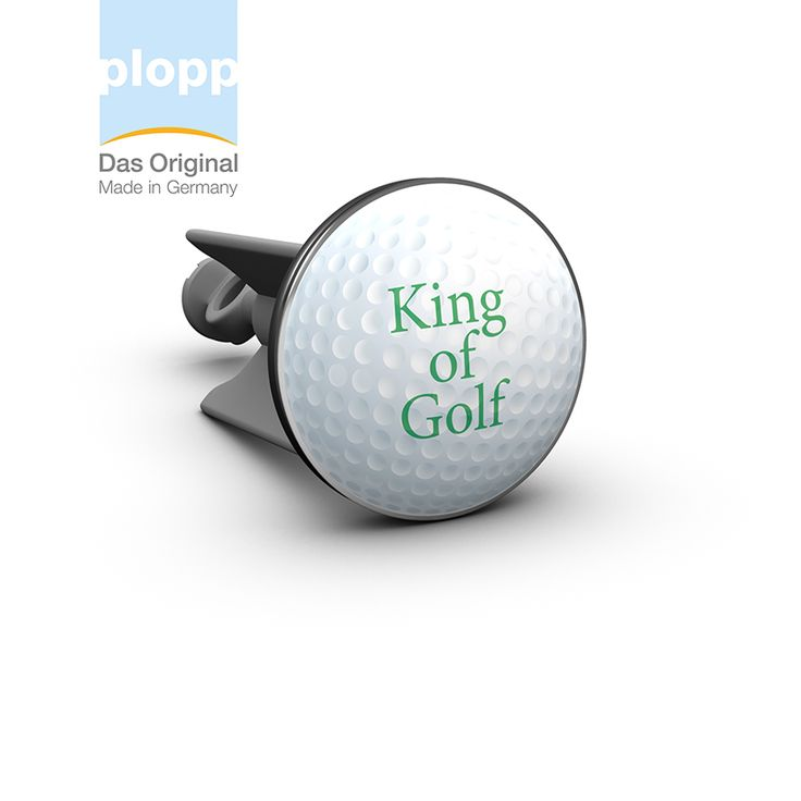 plopp Waschbeckenstöpsel King of Golf  #golf #sport #gift #Badezimmer #Bathroom #plopp #Geschenkidee