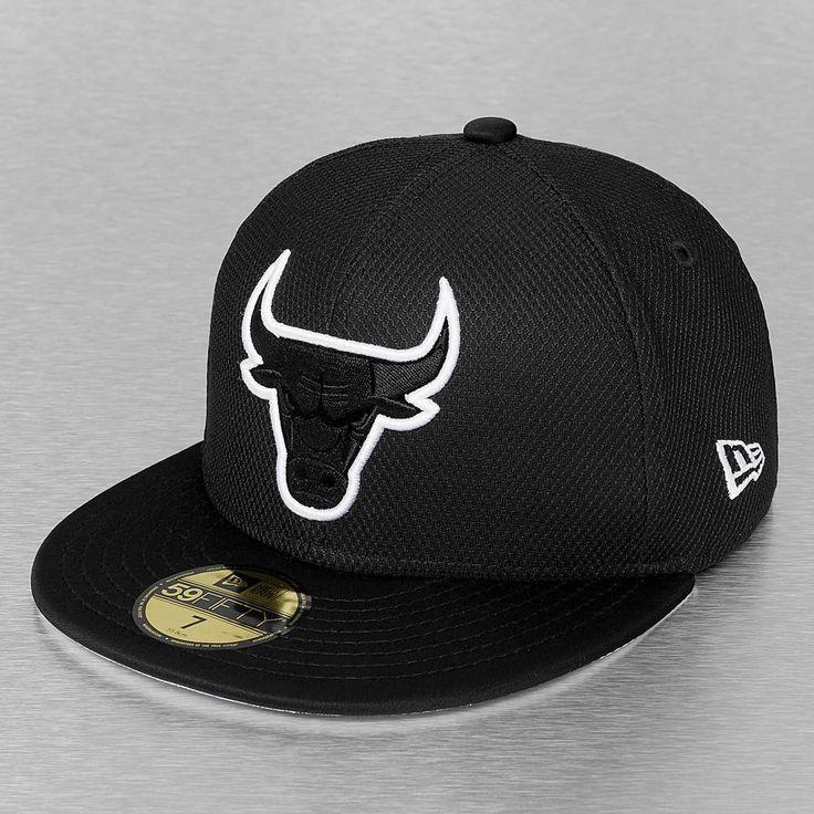 34da16f803f Chicago Bulls Neoprene Black 59Fifty Fitted Baseball Cap by NEW ERA x NBA