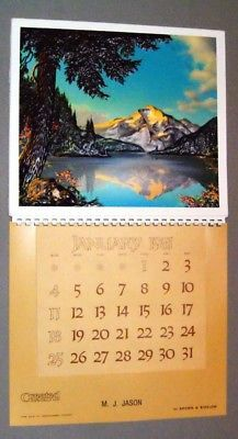 Vintage 1981 2026 Paul Detlefsen Reflected Beauty Vacuum Form Calendar