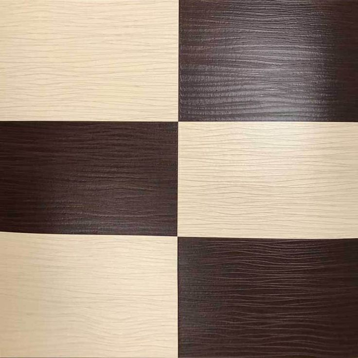 5549-02 Faux Leather Imitation Tile Brown Cream Wallpaper