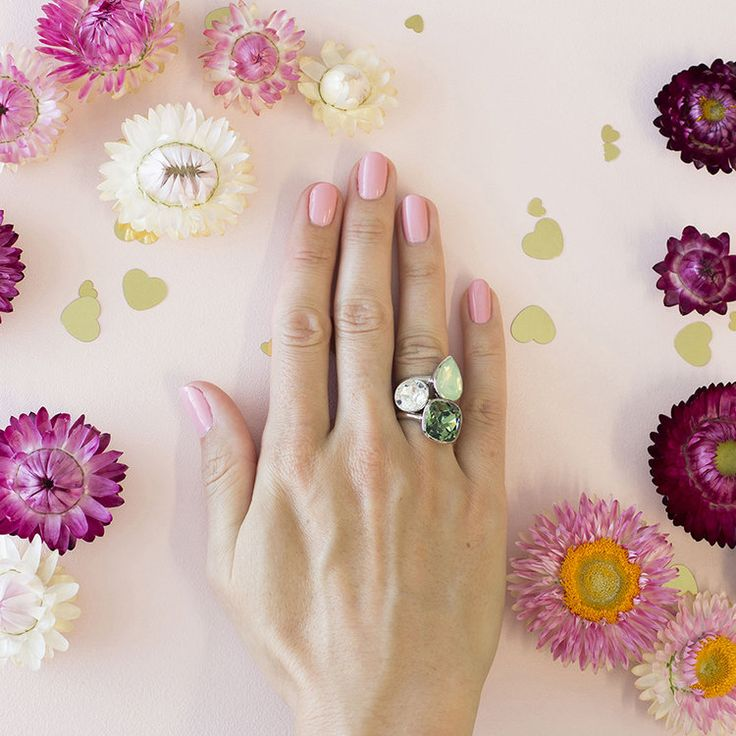 Florence MKD Summer 2018 Stacker Ring Set #bling #MarisaKateDesigns #Swarovski #crystal #jewel #sterlingsilver