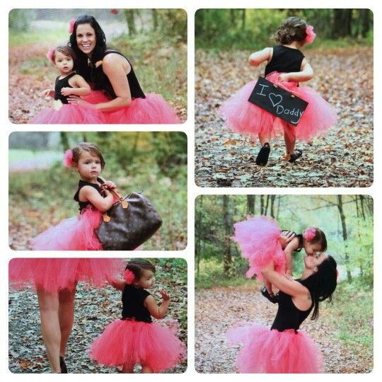 My Tutus and head pieces for Mommy and me Photo shoot. My daughter in law and Granddaughter.