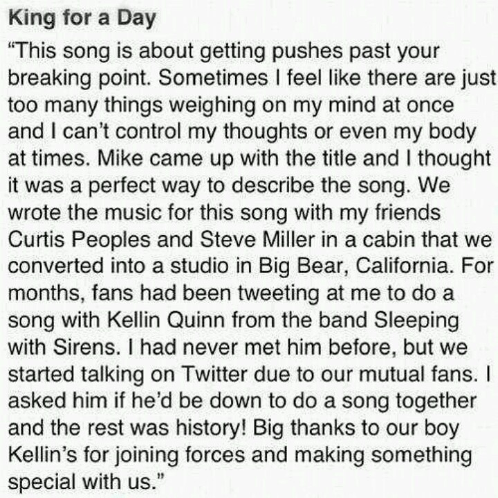 King for a day explained
