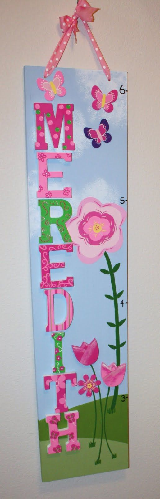 65 best growth chart ideas images on pinterest growth charts such a cute idea for a little girls growth chart love it nvjuhfo Choice Image