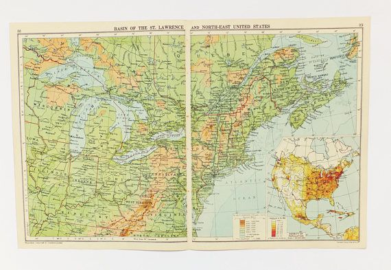 US map Basin of St Lawrence map Map of North East United