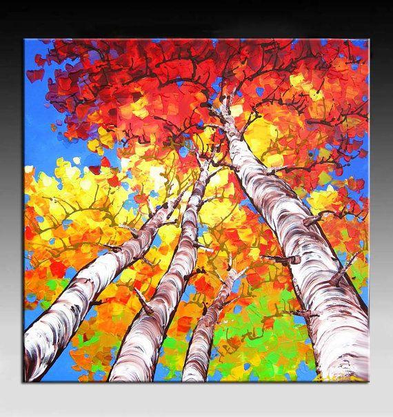 Landscape Painting, Abstract Painting, HUGE Original DEEP Artist Canvas Palette…