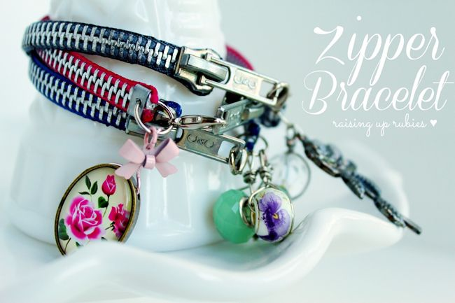 Zipper Bracelet how to make
