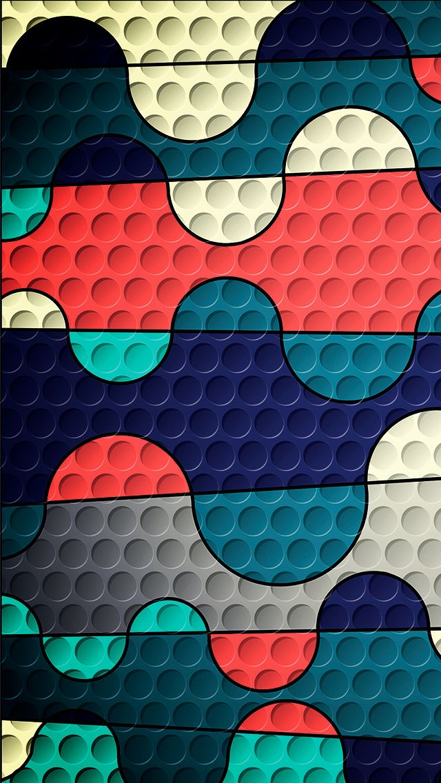 Colorful Puzzles With Holes Wallpaper