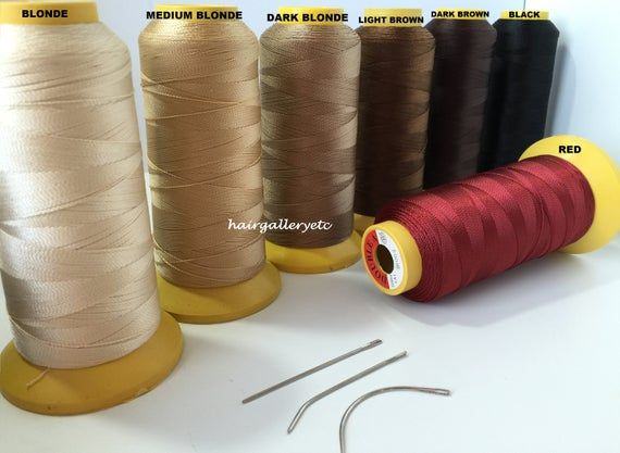 Jumbo Hair Extension Thread Weaving Thread & 3 pcs Weave Needle for weft hair extensions USA Curve H