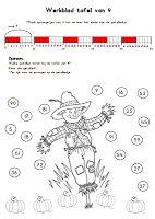 Juf Shanna: Werkbladen om de tafels te oefenen (herfst thema) - Deel 2