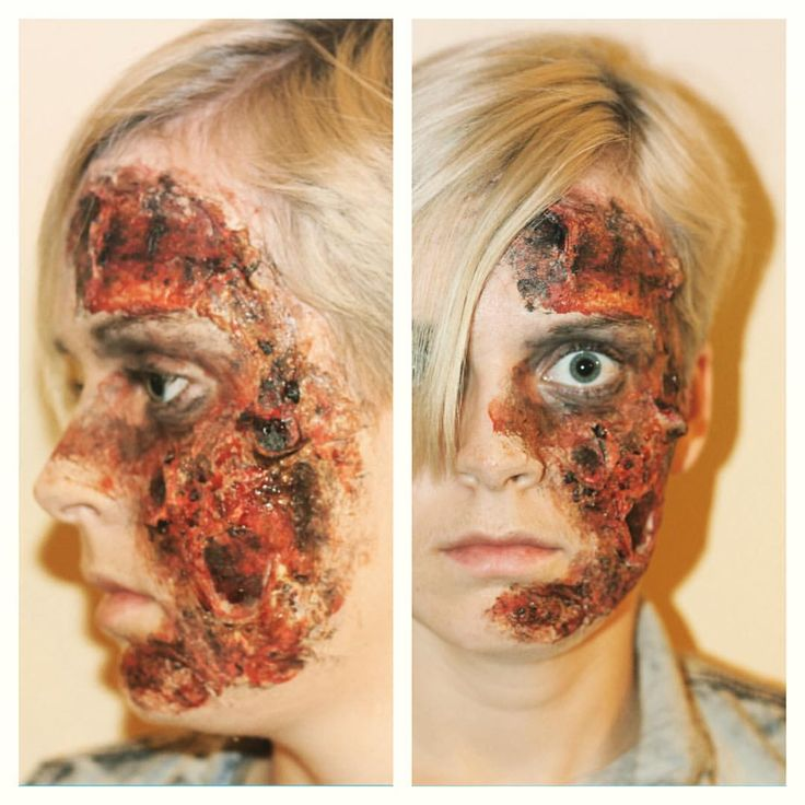 Had access to a real camera for once. All the burned madness! #sfx #sfxmakeup #sfxatlas #fxmakeupartist #fx #fxmakeup #makeup #instaeffectfx #specialeffects #beauty #sminke #burn #latex #coffee