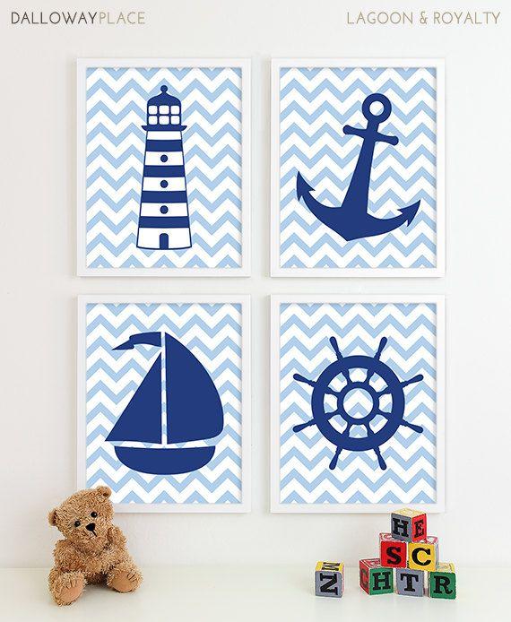 Nautical Nursery Decor Prints Nautical Kids by DallowayPlaceKids