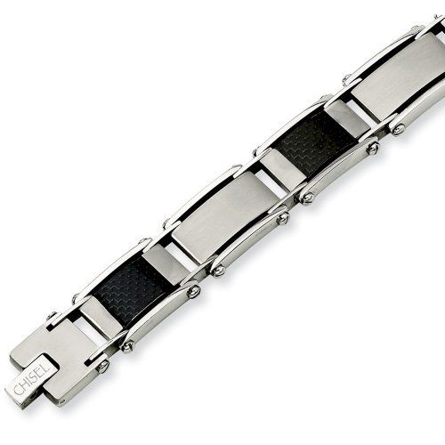 Chisel Stainless Steel Carbon Fiber and Link Bracelet Chisel. $59.95. Save 50% Off!
