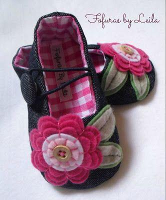 sapatinhos de feltro