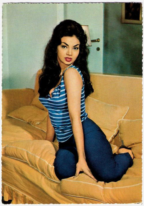 """missmossblog:  """"Former Cuban actress, dancer and sex-symbolChelo Alonso(1933) was a star in the Italian cinema of the late 1950's and early 1960's. In several sword and sandal epics she played femme fatales with fiery tempers and she did sensual dance scenes, mixing Afro-Cuban rhythms with 'bump and grind'. """" Chelo Alonso (by Truus, Bob & Jan too!)"""