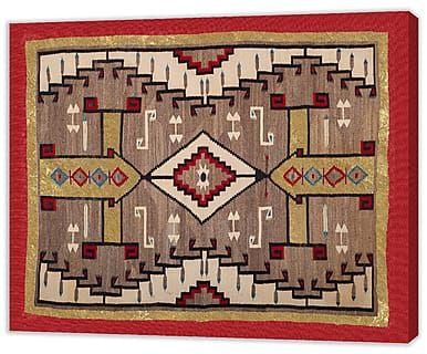 Impression sur toile NAVAJO II, rouge et marron – 50*60