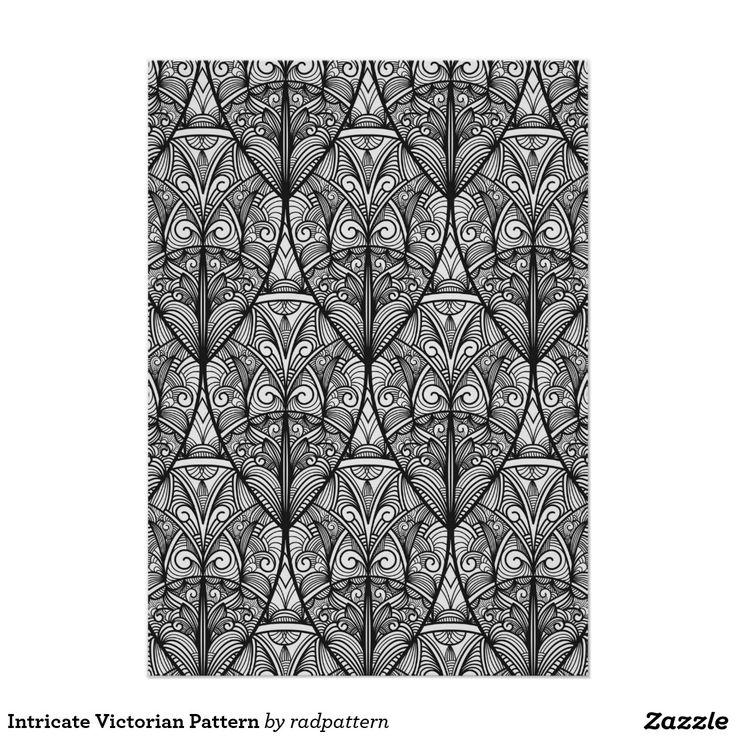 Ingewikkeld Victoriaans Patroon Poster