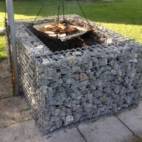 die 25 besten ideen zu gabionen grill auf pinterest. Black Bedroom Furniture Sets. Home Design Ideas