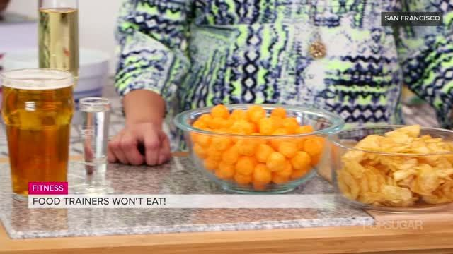 VIDEO: A Warning From Celebrity Trainers: Stop Eating These Foods . . . -      Celebrities pay their trainers a lot of money to keep them in shape -even if it means that part of the process is giving up their favorite foods. We spoke to the trainers that work with high-profile clients like Jessica Biel, Brooklyn Decker, and Jennifer Garner to find out which foods were absolutely off-limits as far as they're concerned. While most of these might not surprise you, do you think