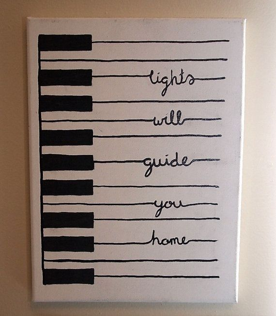 Handpainted Piano With Quote. Not sure if I'd ues the quote but definitely  cute idea!