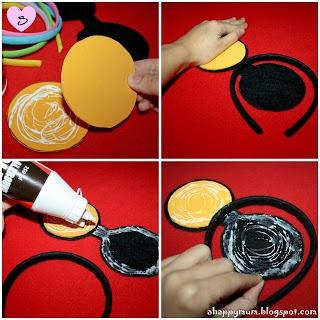 Tutorial para hacer diademas con orejas de Minnie y Mickey. Fiestas infantiles.|¡Disfrutando en mi hogar!