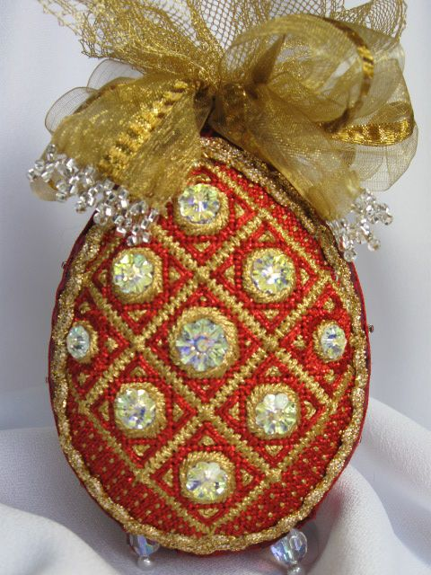 a Collection of Design needlepoint Russian Easter Egg